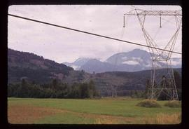 Near Pemberton - Power Lines and Mountains