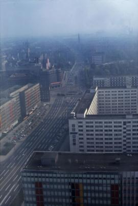 Aerial view of a city in East Germany