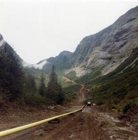 Pacific Northern Gas pipeline construction site