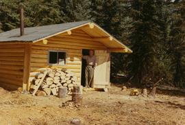 Jack Barker and cabin at Tutizzi Lake