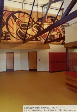 Interior view of Hartley Bay school