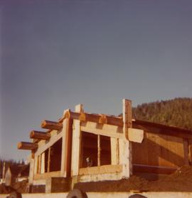 Construction frame of Queen Charlotte Islands museum