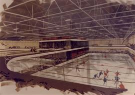 Artistic rendering of ice rink