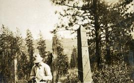 International boundary monument near Cascade, BC