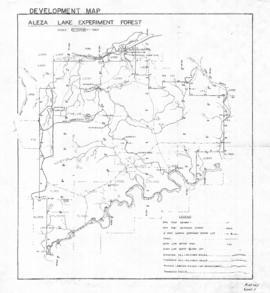 Aleza Lake Experiment Forest Development Map