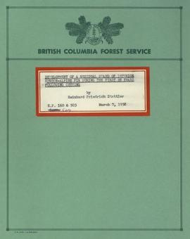 E.P. 160 & 503: Development of a Residual Stand of Interior Spruce-Alpine Fir During the Firs...