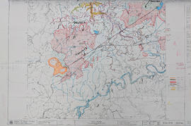 Map 93J.010 annotated to show transects
