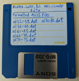 Aleza Lake AES Climate Station Data - Formatted ASCII Files