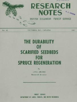 The Durability of Scarified Seedbeds for Spruce Regeneration