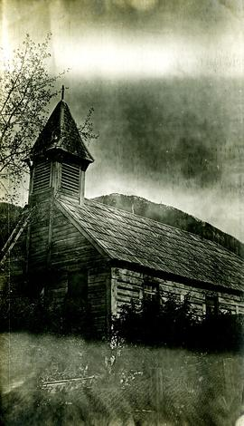 Old church building at Kincolith, BC