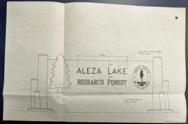 Aleza Lake Research Forest Signage