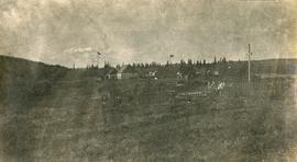 View of Hudson Bay Company Buildings from the Indian burial grounds at Fort George