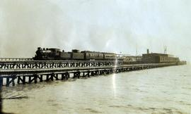 Pacific Great Eastern Railway train at Squamish dock