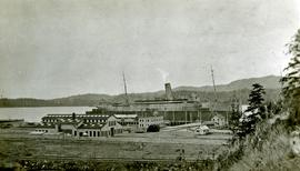 Ship in dry dock at Prince Rupert during World War I
