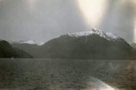 Mountains and ocean, possibly Howe Sound