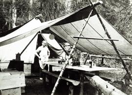 Jack Freeborn, the cook at Aleza Lake Experimental Station in 1925