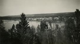 View of Quesnel and Fraser River Bridge