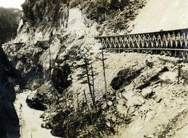 Cheakamus Canyon railway trestle