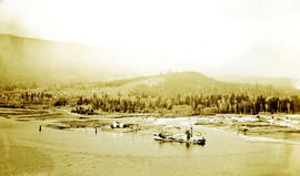 Dredge boat at mouth of Capilano River
