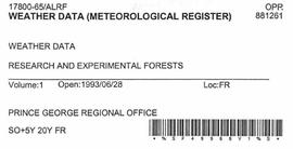 Weather Data (Metereological Register)