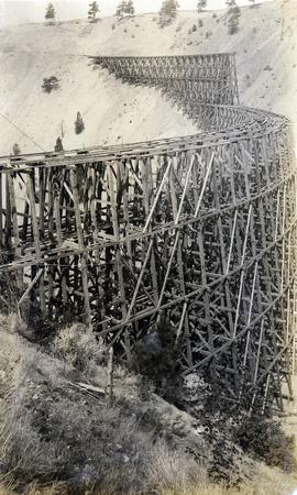 Sallus Creek railway trestle construction