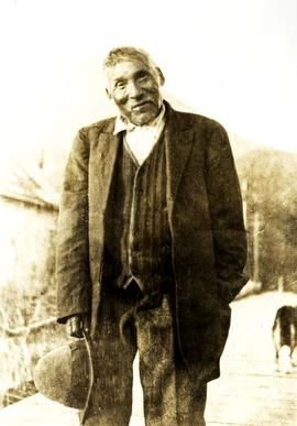 Man named 'Noah' at Kincolith, BC