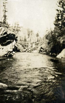 Old bridge on North Fork near the junction of West Fork