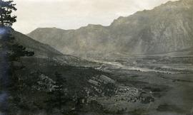 View of Lillooet Indian Reserve and town