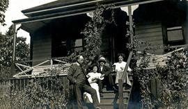 W.E. Collison with siblings at church rectory