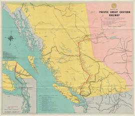 """Map of the Pacific Great Eastern Railway"""