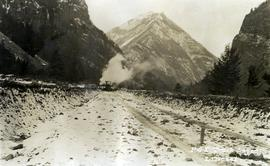 Pacific Great Eastern Railway track laying, Lillooet