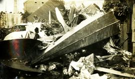 Wreck of an airmail plane