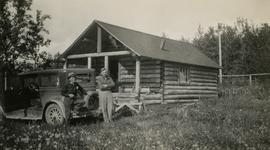 Jack Lee and Philip Monckton at Burns Lake cabin