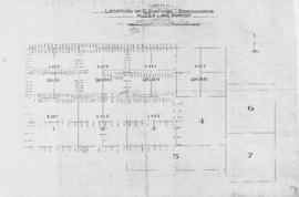 Sketch showing locations of elevations and benchmarks, Aleza Lake Forest, Cariboo