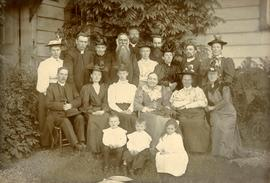 Bishop & Mrs. Ridley posing with early church workers at Metlakatla, BC