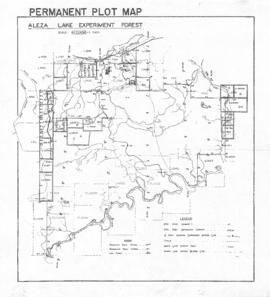 Aleza Lake Experiment Forest Permanent Plot Map