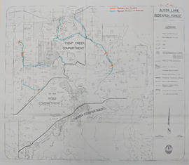 Aleza Lake Research Forest [annotated to show proposed culverts and roadside brushing]