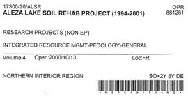 Aleza Lake Soil Rehab Project - Volume 4