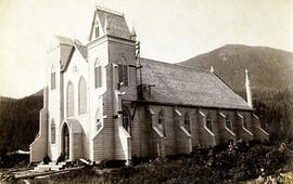 New church building under construction at Kincolith, BC
