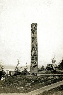 Edenshaw Totem Pole in park at Prince Rupert, BC