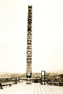 Totem Pole in park at Prince Rupert, BC