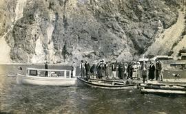 People on the Seton Lake dock