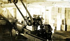 Johnston clicher machine at Nass Harbour Cannery