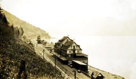 CPR hotel and station, Sicamous Junction, BC