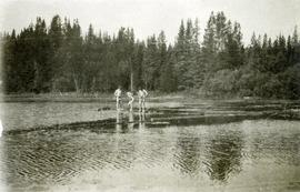 A bathing party, Cariboo 1914