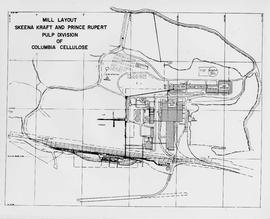 Mill Layout: Skeena Kraft and Prince Rupert Pulp Division of Columbia Cellulose