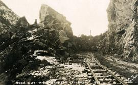 Rock cut, PGE Railway near Lillooet