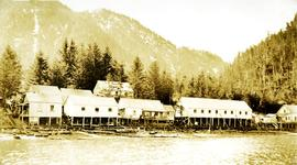 Indigenous cannery worker housing at Nass Harbour Cannery