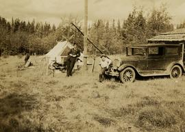 Gordon Wyness and Jack Lee at Bobtail campsite near Vanderhoof