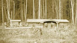 Settler's cabin on Fraser River opposite Stone Creek